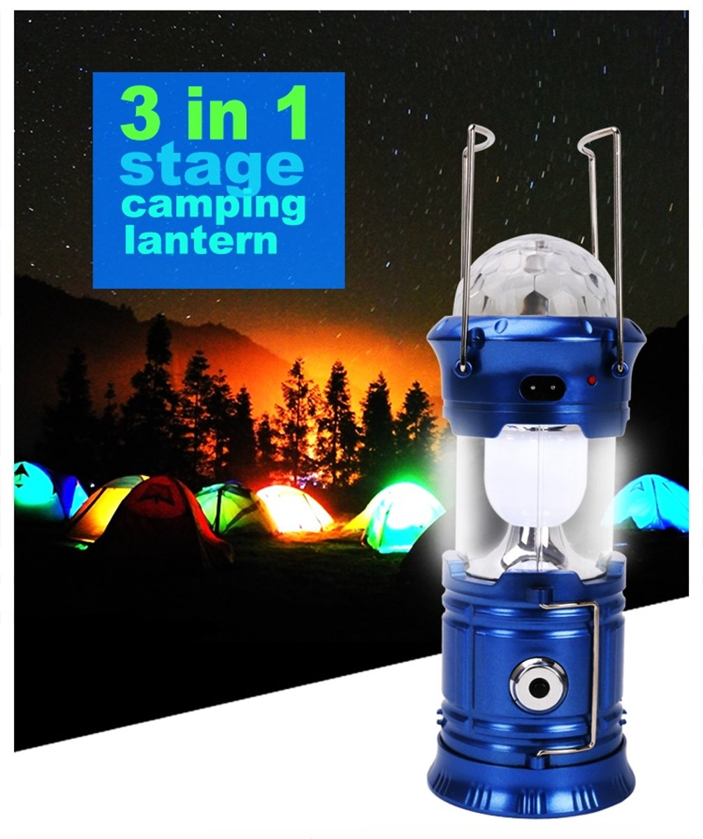 Multifunctional camping lamp – goud – met Bluetooth – discolamp 3